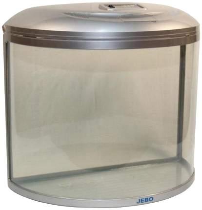 Аквариум для рыб Jebo R 760, бесшовный, с изогнутым стеклом, серебро, 62 л
