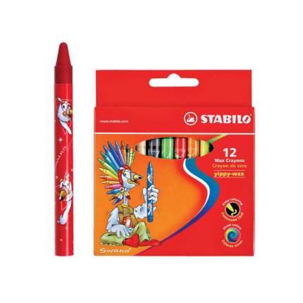 Набор восковых мелков Stabilo Yippy-wax Color Peps 12 цветов картонная коробка
