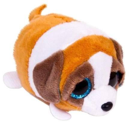 Мягкая игрушка ABtoys Собачка коричневая с белым, 10 см