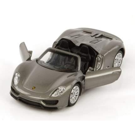 Автомобиль Пламенный мотор porsche 918 spyder 1:41 серый откр, двери