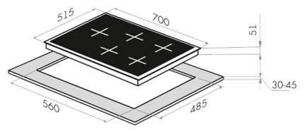 Встраиваемая варочная панель газовая MAUNFELD EGHE.75.33CW/G White