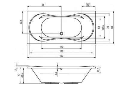 Акриловая ванна Riho Supreme 190х90 без гидромассажа