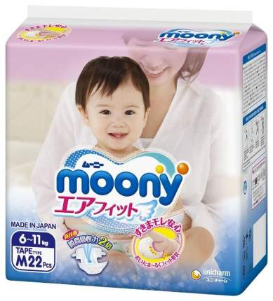 Подгузники moony M (6-11 кг), 22 шт