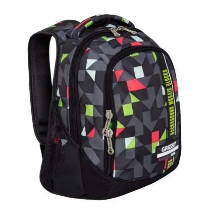 Рюкзак Grizzly RU-925-2 черный/красный/зеленый 14,5 л