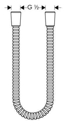 Душевой шланг Hansgrohe 28112000 см