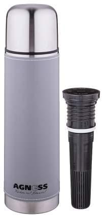 Термос AGNESS, 0,75 л, серый, со съемным фильтром