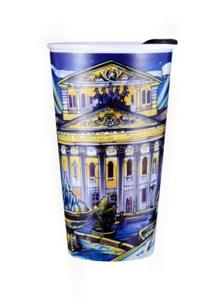 Термостакан керамический WOODSURF/ коллекция FACES&PLACES, скетч, Большой театр, 320 мл