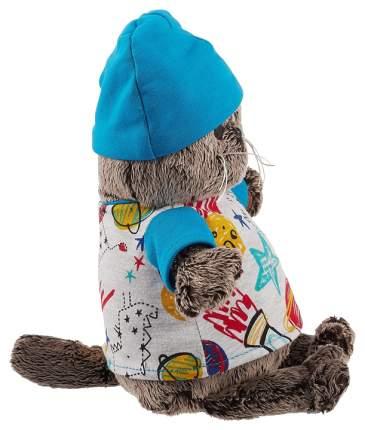 Мягкая игрушка «Басик» в футболке космос и в шапочке, 25 см Басик и Ко