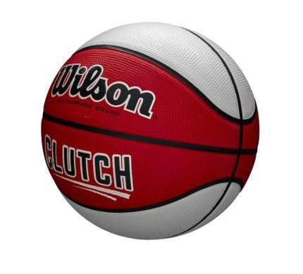 Мяч баскетбольный Wilson Clutch WTB14199, 7, белый/оранжевый