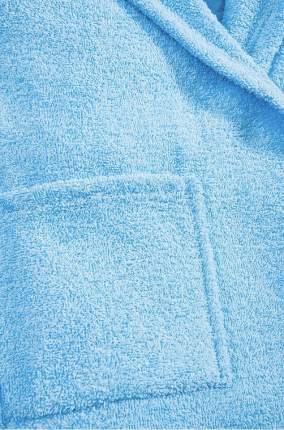 Халат Осьминожка с капюшоном махровый детский голубой 128 размер