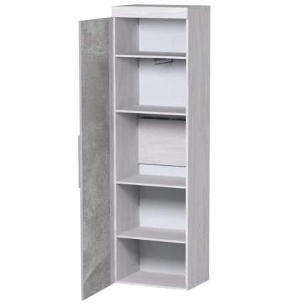 Платяной шкаф Глазов мебель Леон 5 56х38,9х211,3, ясень анкор светлый/ателье светлый