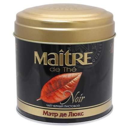 Набор Maitre чай Noir букет ассорти черный листовой 100 г и конфеты Lindt Lindor 37.5 г