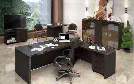 Письменный стол SKYLAND SKY_sk-01231408, венге магия/темно-коричневый