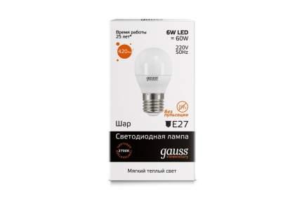 Лампа светодиодная Gauss Elementary 53216 6W E27 2700K