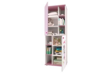 Детский шкаф-пенал Polini Kids Disney Baby «Минни Маус Фея» Белый/Розовый