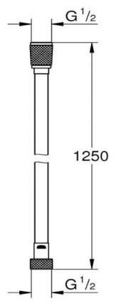 Silverflex Душевой шланг 1250 мм, цвет: темный гарфит, глянец