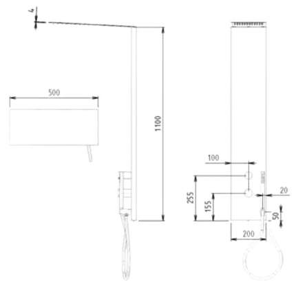 Душевые комплекты Cezares PREMIER-CD2-T-01