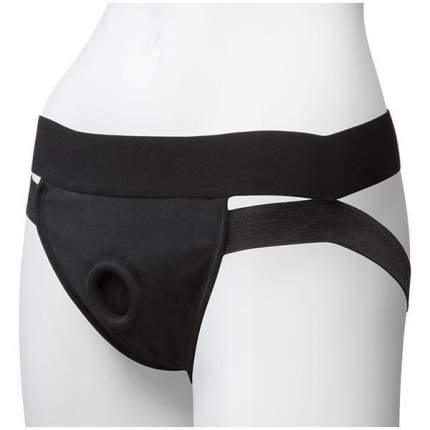Трусики для страпона Doc Johnson Vac-U-Lock Panty Harness with Plug Dual Strap S/M