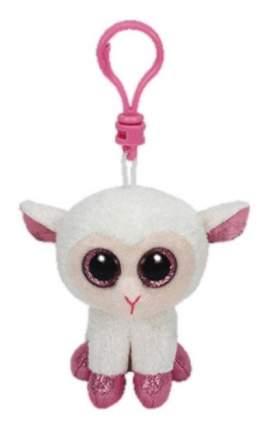 Мягкая игрушка TY Beanie Boos Брелок Овечка (белая с розовыми копытцами) 12 см