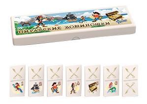 Настольная игра Домино малое пираты