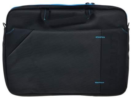 """Сумка для ноутбука 15.6"""" Continent CC-205 серая/синяя"""