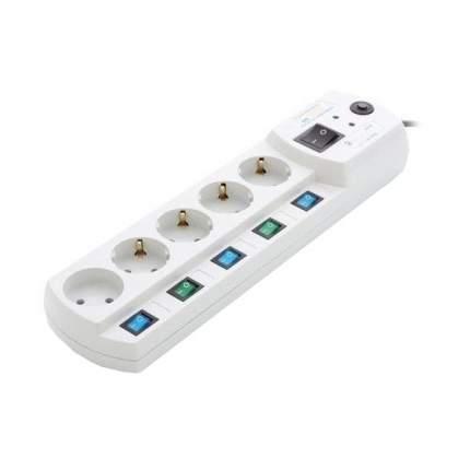 Сетевой фильтр MOST Elite EHV 5, 5 розеток, 2 м, White