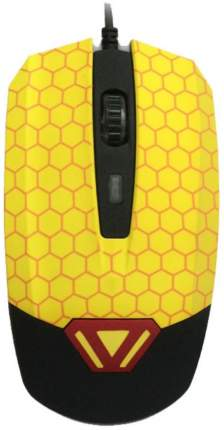 Проводная мышка CBR CM 833 Yellow/Black
