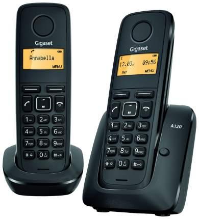 Телефон DECT Gigaset A120 DUO черный