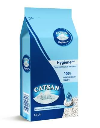 Впитывающий наполнитель для кошек Catsan Hygiene Plus кварцевый песок, 1.17 кг, 2.5 л