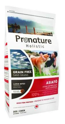 Сухой корм для собак Pronature Holistic GF Asiato, рыба, 12кг