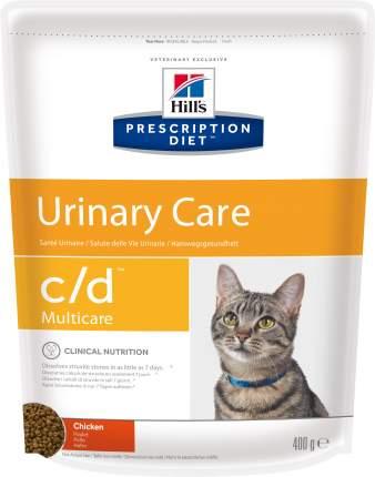 Сухой корм для кошек Hill's Prescription Diet Urinary Care, профилактика МКБ, курица,0,4кг