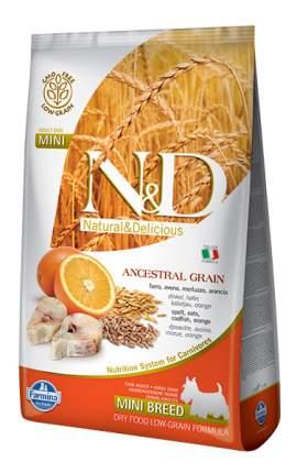 Сухой корм для собак Farmina N&D Mini, для мелких пород, сельдь и апельсин, 12кг