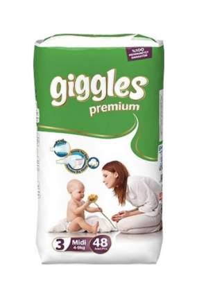 Подгузники Giggles Premium Midi 3 (5-9 кг), 48 шт.