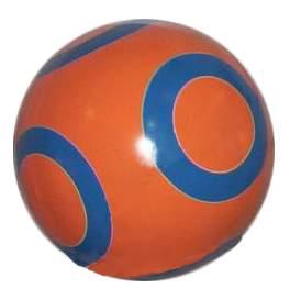 Мячик детский Чебоксарский завод С кругами 125 мм