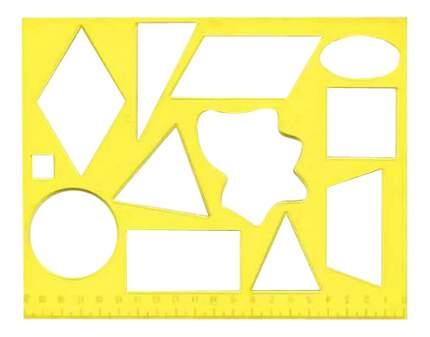 Набор для рисования ЛУЧ Трафарет геометрические фигуры №2