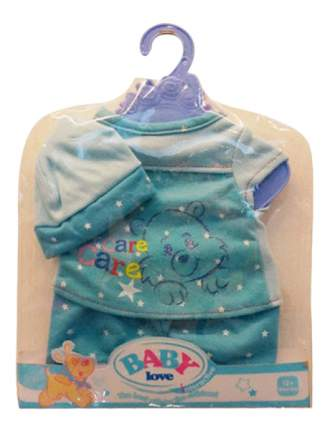 Пижама в наборе с шапочкой, размер: 30x20 см для кукол Junfa toys