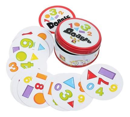 Настольная игра Доббль 1, 2, 3 (Dobble: Spot It! Numbers & Shapes)