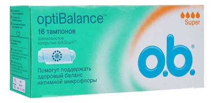 Тампоны o.b. optiBalance Супер 16шт