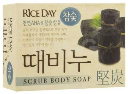 Косметическое мыло CJ Lion Rice Day древесный уголь 100 г