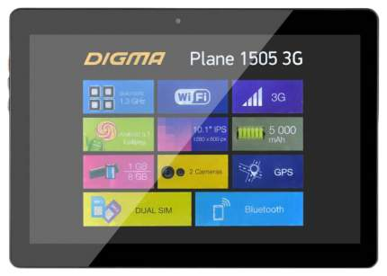 Планшет Digma Plane Plane 1505 3G Navitel Black