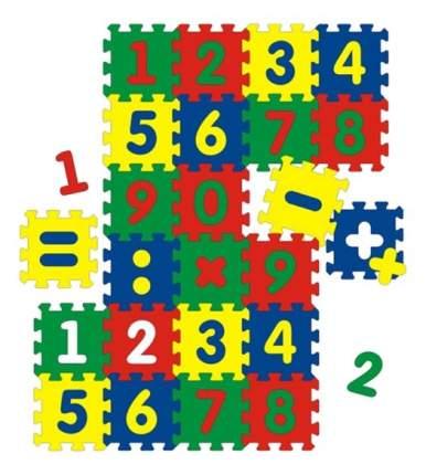 Мягкий коврик-пазл Флексика С цифрами 24 детали