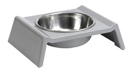 Одинарная миска для собак Beeztees, сталь, серый, серебристый, 0.16 л