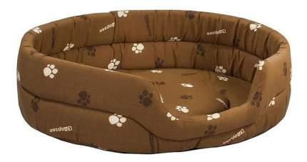 Лежанка для кошек и собак Дарэлл 51x64x17см коричневый
