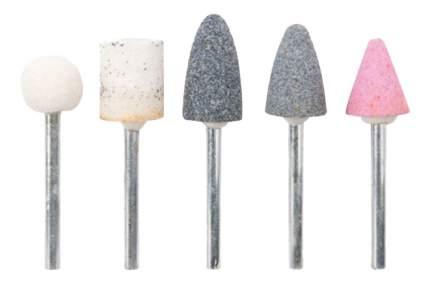 Шарошки по камню абразивные, 5 шт,, штифт 3 мм КУРС 36462