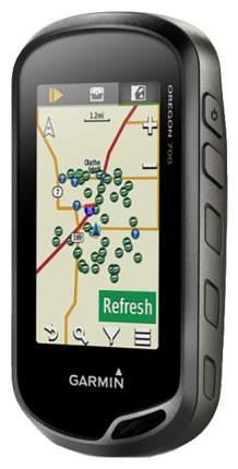 Туристический навигатор Garmin Oregon 700T + карты Топо черный