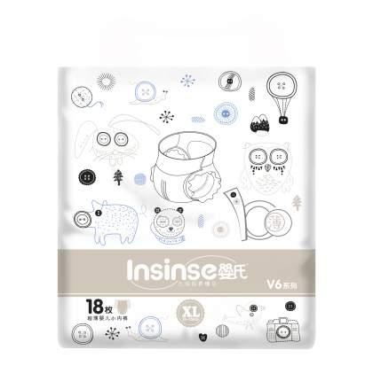 Подгузники INSINSE V6 трусики (13-15кг) 18 шт. супертонкие XL (12)