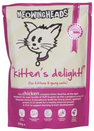Сухой корм для котят Barking Heads Meowing Heads Kitten's delight, курица с рисом, 0,25кг