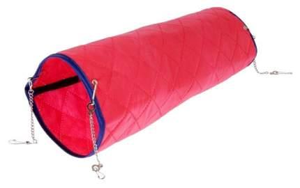 Тоннель для грызунов Petto текстиль, 13х40 см, цвет красный