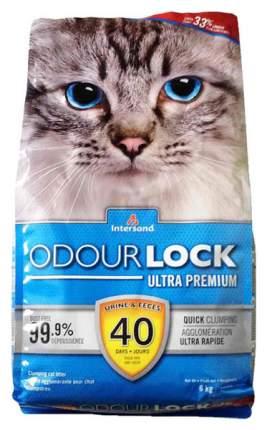 Комкующийся наполнитель для кошек Intersand Odour Lock глиняный, 6 кг