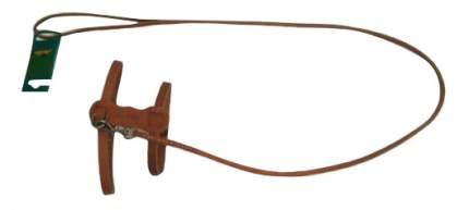 Комплект амуниции для собак Аркон, поводок + шлейка, кожаный, цвет коньячный